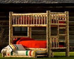 Glacier Log Bunk Bed - Log bunk beds