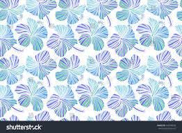hawaiian tropical natural floral seamless pattern stock