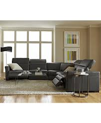 Sectional Sofa In Living Room by Nicolo Leather Power Reclining Sectional Sofa Collection With