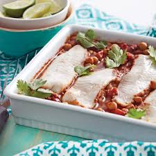 cuisiner les pois chiches filets de tilapia sur nid de tomates et pois chiches soupers de