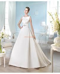 robe de mari e classique robe de mariée classique col bateau satin