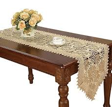 48 inch table runner amazon com simhomsen beige lace table runners and doilies