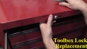 craftsman tool chest lock replacement youtube