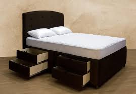 King Bed With Storage Underneath Make A Foundation Bed With Drawers Queen Bedroom Ideas
