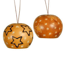 large etched gourd ornaments from peru fair trade