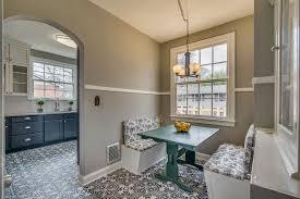 Breakfast Nook Chandelier Cottage Dining Room With Built In Breakfast Nook U0026 Pendant Light