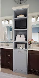 Bathroom Vanity Shelves Vanity Towers Take Bathroom Storage To New Heights With Brilliant