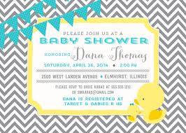 duck baby shower invitations duckie baby shower invitation and personalized sign gray chevron
