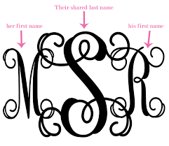create monogram initials what is a wedding monogram the yes