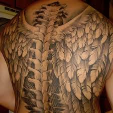 spine with wings tattoos for creativefan