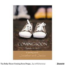 tan baby shoes coming soon pregnancy announcement 5