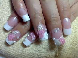 acrylic nail designs for weddings