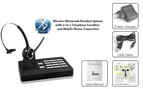 bluetooth adapter for desk phone wireless bluetooth headset system 2 in 1 telephone landline and