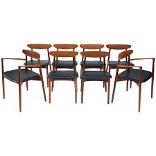 set of eight danish dining chairs by harry ostergaard for randers