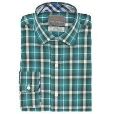 big boys green check button sport shirt dean co