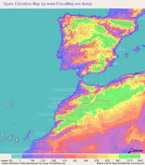map of spain spain elevation and elevation maps of cities topographic map contour