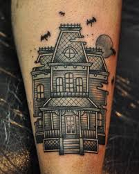 image result for haunted house tattoo tattoo pinterest house