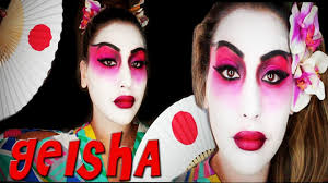 colorful geisha halloween tutorial youtube