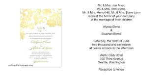 wedding invitation wording from and groom casual wedding invitation wording from and groom zoolook me