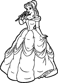 new belle disney princess coloring page wecoloringpage