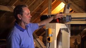 attic lift diy youtube