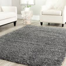amazing huge furry rug living room decor featuring brown rug color