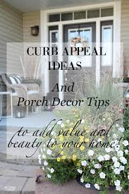 Tips For Curb Appeal - curb appeal ideas and porch decor tips setting for four