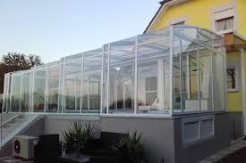 terrasse transparente abri de terrasse topaz à pans droits la solar véranda topas