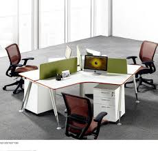 desk for 3 people guangzhou office furniture steel knock down metal 3 people high end