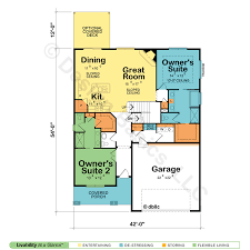 dual master suite home plans cedar glen ii 42229 craftsman home plan at design basics