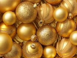 merry gold decoration balls new year