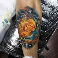 yellow space rose tattoo best tattoo ideas gallery