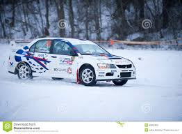 2015 mitsubishi rally car mitsubishi lancer evo ix rally car editorial image image 49988300