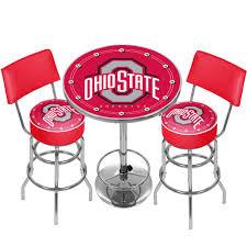 ncaa ohio state university game room combo 3 piece pub table set