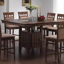 coaster mix and match walnut counter height dining table 101438