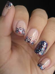 goose u0027s glitter 4th of july nails