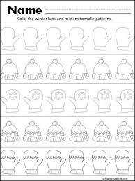 modèles moufles et bonnets ou algorithmes hiver pinterest
