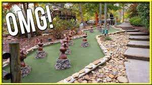 the craziest and luckiest mini golf hole in one ever youtube