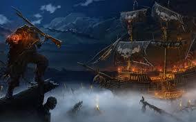 fantasy pirate dark horror skeleton evil scary creepy spooky ship