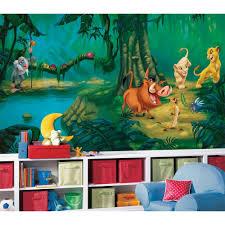 fun jungle safari bedroom decor ideas lion king wall mural