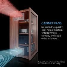 cabinet for home theater equipment amazon com ac infinity airplate s3 quiet cooling fan system 6