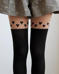 cute stockings hearts thigh high stockings tights pantyhose on luulla