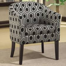 Patterned Accent Chair Coaster Charlotte Hexagon Patterned Accent Chair With Wood Legs