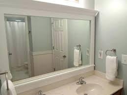 bathroom mirror frame ideas bathroom update framed builder mirror update bathroom mirror
