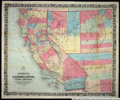 Arizona California Map by Bancroft U0027s Map Of California Nevada Utah And Arizona