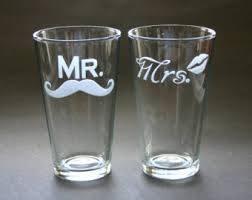 his and hers glassware engagement gift his and hers glasses with and