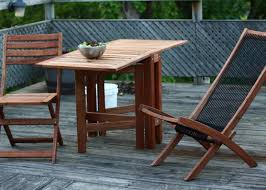 Patio Furniture Kitchener Timber Patio Furniture Timber Garden Table On Green Glass Stock