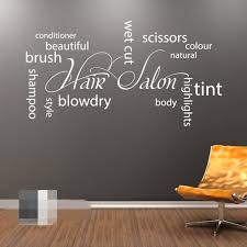 amazon com fawer hair salon collage wall art vinyl sticker