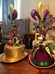 mardi gras centerpieces mardi gras hat tabletop arrangement for ordering information email