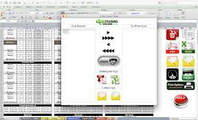 page layout program exles platinum strength conditioning excel template excel training designs